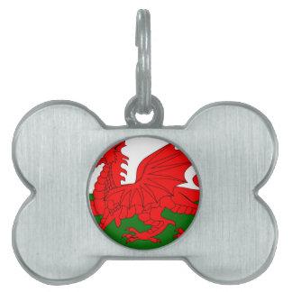 Welsh Dragon Flag Pet Name Tags