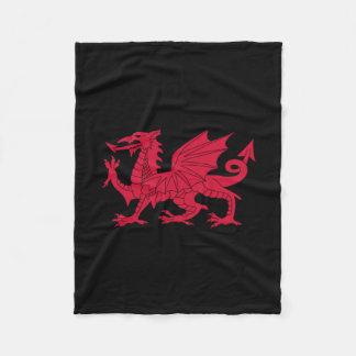 Welsh dragon fleece blanket