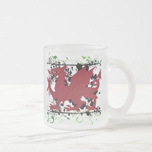 Welsh Dragon Frosted Coffee Mug