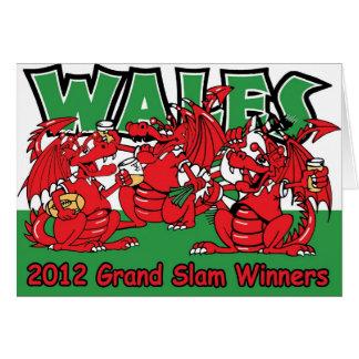 Welsh Dragon, Grand Slam Winners 2012 Card