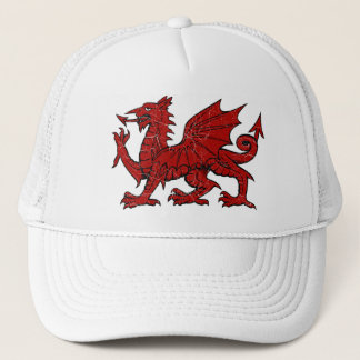 Welsh Dragon Grunge - Hat