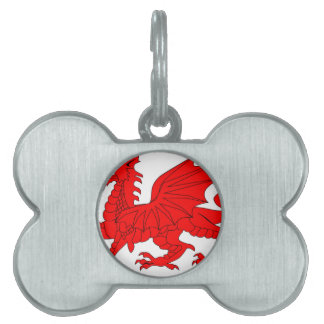 Welsh Dragon Pet Tag