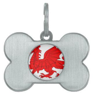 Welsh Dragon Pet Tags