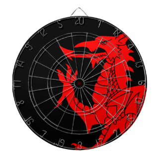 Welsh Dragon Rampant Dartboard