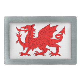 Welsh Dragon Rectangular Belt Buckles