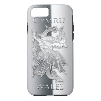 Welsh Dragon Silver Effect iPhone 7, Tough iPhone 8/7 Case