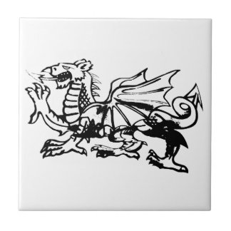 Welsh Dragon tiles