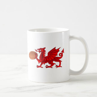 Welsh Dragon With a Rugby Ball Coffee Mug