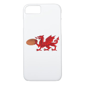 Welsh Dragon With a Rugby Ball iPhone 7 or 8 Case