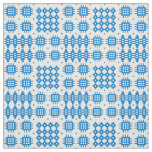 Welsh Faux Tapestry Bright Blue on White Pattern Fabric