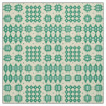 Welsh Faux Tapestry Dark Green on Taupe Pattern Fabric