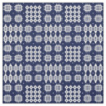 Welsh Faux Tapestry White ondark  Blue Fabric