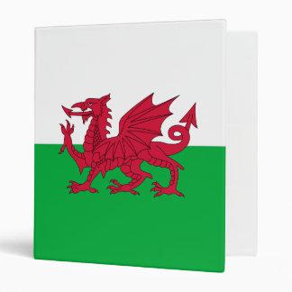 Welsh Flag 3 Ring Binder