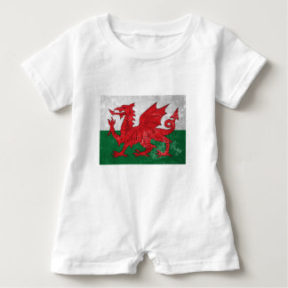Welsh Flag Baby Romper