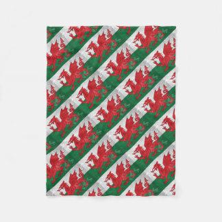 Welsh Flag Fleece Blanket