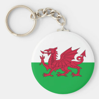 Welsh Flag Key Chain