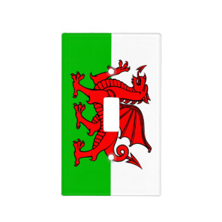 Welsh flag light switch cover