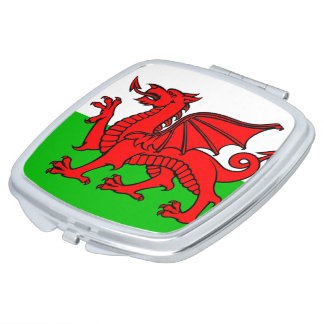 Welsh flag makeup mirror
