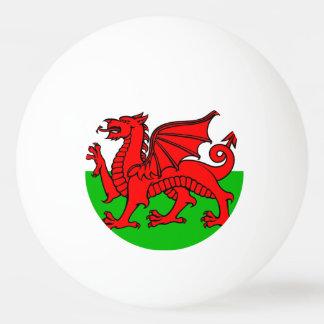 Welsh flag ping pong ball