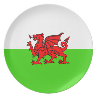 Welsh flag plate