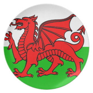 Welsh-Flag Plate