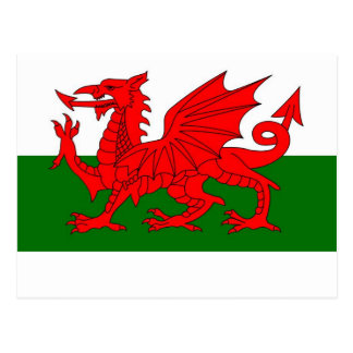 welsh flag postcard