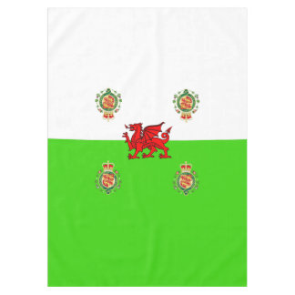 Welsh flag tablecloth