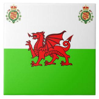 Welsh flag tile