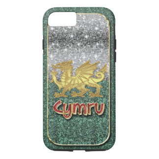 Welsh Glitter And Gold Stylish iPhone 7, Tough iPhone 7 Case