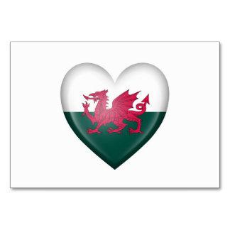 Welsh Heart Flag on White Card