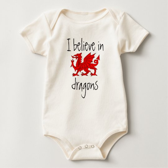 Welsh - I Believe in Dragons Baby Creeper