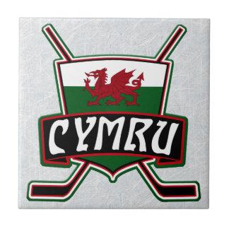 Welsh Ice Hockey Flag Ceramic Tile, Wales Tile