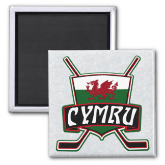 Welsh Ice Hockey Magnet, Wales Magnet
