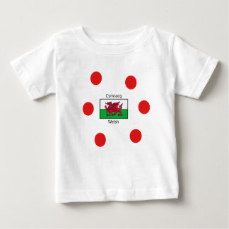 Welsh Language And Wales Flag Design Baby T-Shirt
