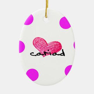Welsh Language of Love Design Ceramic Ornament