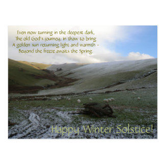Welsh Mountains Winter Soltice Postcard
