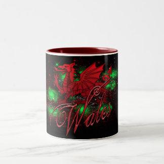 Welsh Mug, Dragon, Wales, St. David's Day Two-Tone Coffee Mug