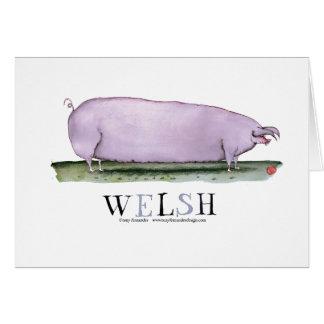 welsh pig, tony fernandes card