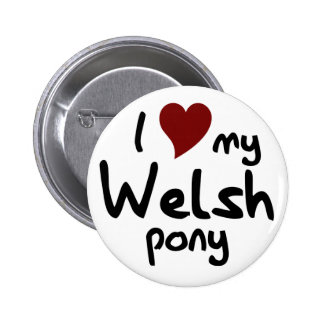 Welsh pony 2 inch round button