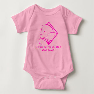 Welsh Pony Baby Body Suit Baby Bodysuit