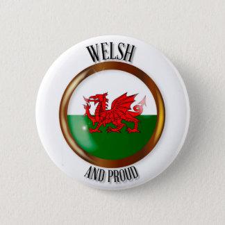 Welsh Proud Flag Button