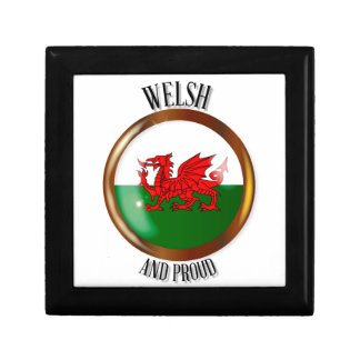 Welsh Proud Flag Button Gift Box