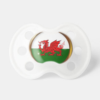 Welsh Proud Flag Button Pacifier