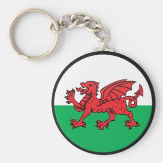 Welsh quality Flag Circle Keychain