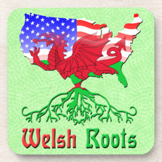 Welsh Roots, American Map Cork Coasters