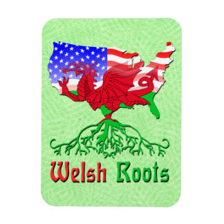 Welsh Roots, American Map Flexi Magnet