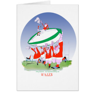 welsh rugby cheers, tony fernandes card