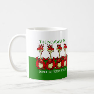 Welsh Rugby Mug, Dragon,  11 oz Classic White Mug