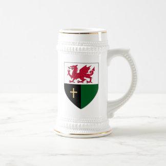 Welsh Shield Stein - Dragon & Cross