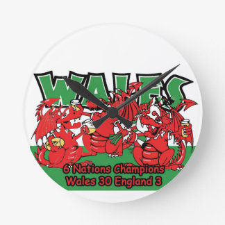 Welsh Six Nation Rugby Champions, W 30-3 E Round Clock